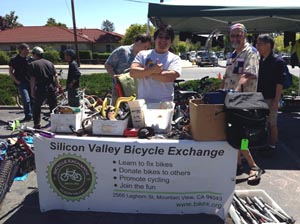 Bicycle Exchange booth at Cupertino Bike Swap Meet April 2015