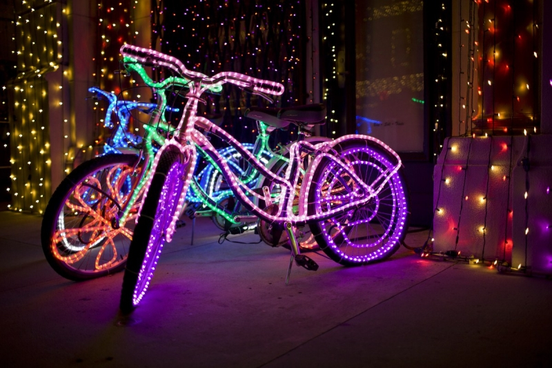 Holiday giving can help the Bicycle Exchange light up someone's life with reliable transportation. photo: Hector A Parayuelos on flickr