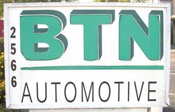 BTN Automotive sign
