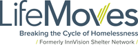 LifeMoves logo: Formerly InnVision Shelter Network
