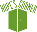 Hope's Corner logo - green doors