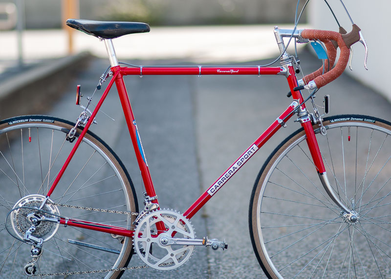 Windsor Carrera vintage road bike. Used Bikes from the Bay Area's Bicycle Exchange, Palo Alto. Available at https://shop.bikex.org